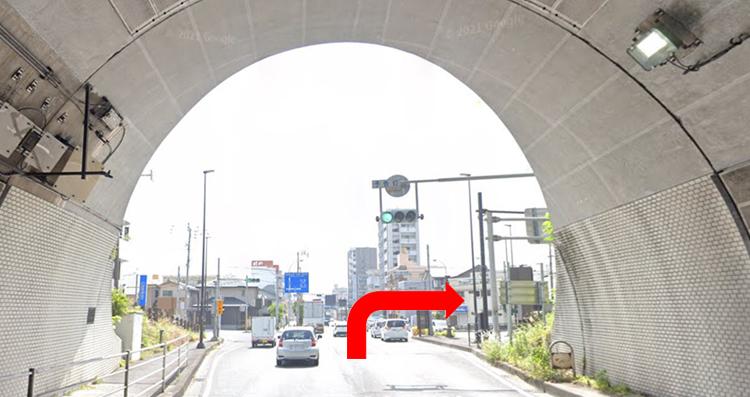 武岡トンネルの出口